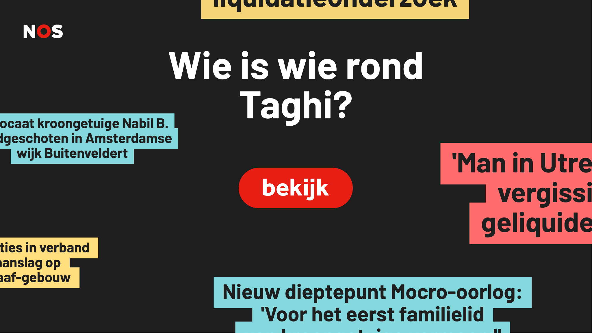 Wie is wie rond Taghi?
